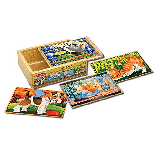 Pets in a Box Wooden Jigsaw Puzzle