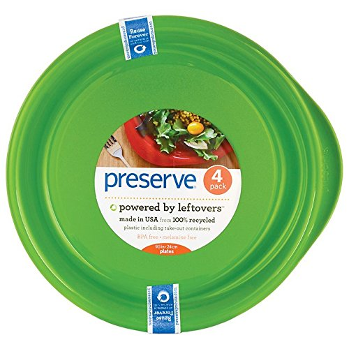 PRESERVE PLATES,EVERYDAY,APPLE GRN, 4 CT