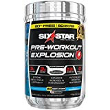 Cheap Six Star Elite Series Explosion Pre Workout Powder, Extreme Energy, Focus and Intensity for Better Workouts, Blue Raspberry, 60 Servings