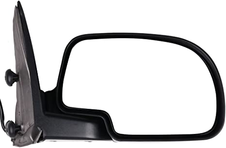 cciyu Black Left Side View Mirror Manual Folding Heated Fits for 2003-2007 Chevy Silverado 2500 HD Classic 3500 Classic 2003-2007 GMC Sierra 3500 Classic 1500 HD Classic 2500 HD Classic 62134G-D67