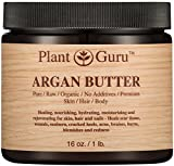 Argan Butter 16 oz. 100% Pure Raw Fresh Natural Cold Pressed. Skin Body and Hair Moisturizer, DIY Creams, Balms, Lotions, Soaps.