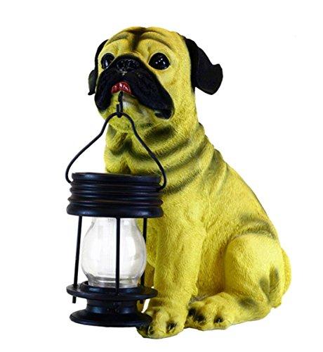 GSL SS-GSL-B5196 Energy Saving Pug Dog with Lantern Solar Light