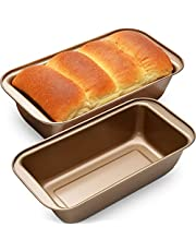 OJelay Bread Loaf Pan 9x5, 2 Pack Nonstick Carbon Steel Loaf Pan Set for Baking Bread