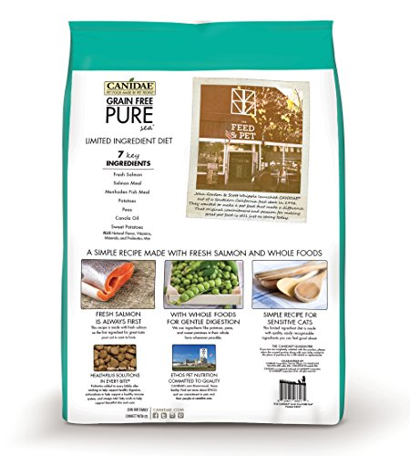 Picture of Canidae Grain Free Pure Sea Cat Dry Formula With Fresh Salmon, 5 Lbs