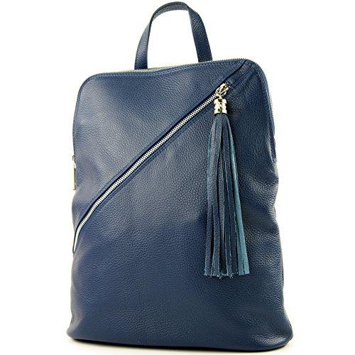Sac à dos en cuir 3in1 Citybag T141 T161 Jeansblau