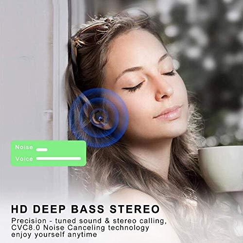 Bluetooth Kopfhörer, in Ear Kopfhörer Kabellos IP8 Wasserdicht 150H mit 3500mAh Ladebox, Wireless Kopfhörer Bluetooth 5.0 Headset Noise Cancelling Earbuds mit Mic Deep Bass, LED-Anzeige, Touch Control