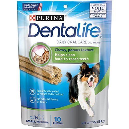 Purina Dentalife Daily Oral Care Small/Medium Dog Treats - (4) 10 Ct. Pouches