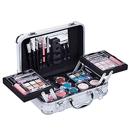 Maúve Carry All Trunk Train Case with Makeup and Reusable...