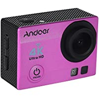 Andoer Q3H-R WiFi 4K 1080P 30fps 16MP Full HD 170° Wide-Angle Lens Sports Action Camera w/ Remote Control Waterproof 30m 2 LCD