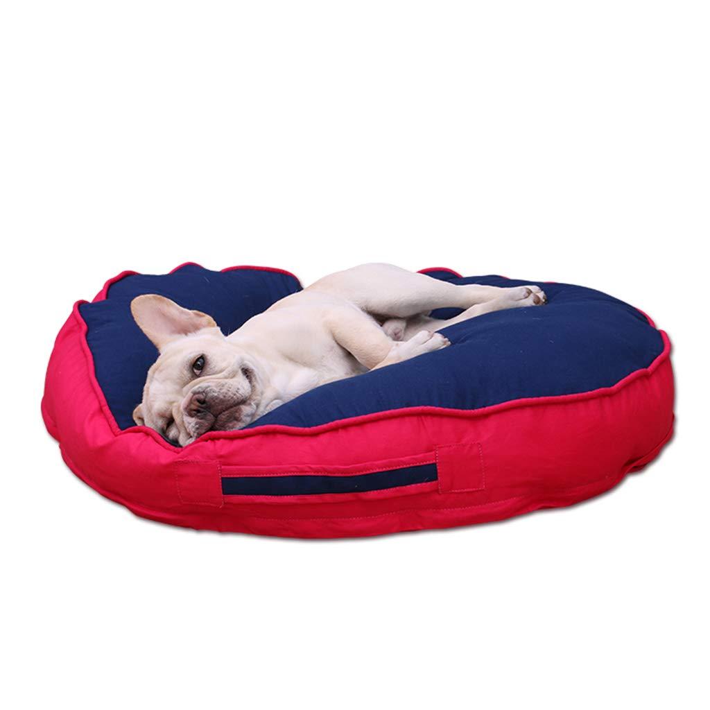 Cama perro Cama Extra Grande para Perros Sofá para Perros Ortopédicos Medianos para Mascotas Camas para Perros Red Blue (Tamaño : XL 100 * 100 * 13cm): ...