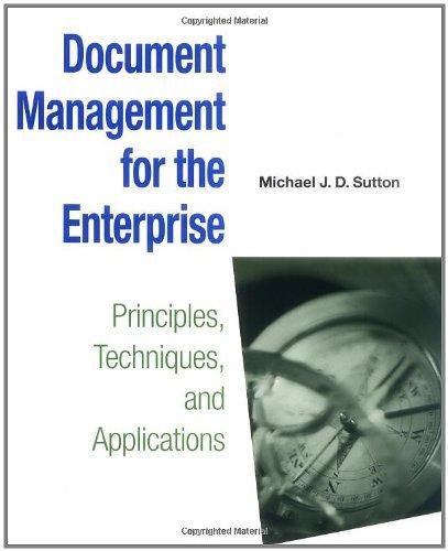 Download Document Management for the Enterprise: Principles, Techniques, and Applications Pdf