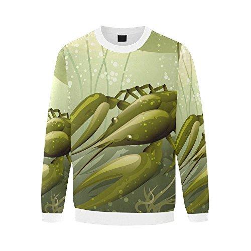 Lone Lobster (InterestPrint Men's All Over Print Lobster Crewneck Sweatshirt Pullover Lone Sleeve Shirt For Men)