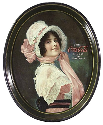1914 Coca-Cola Betty Oval Serving Tray Vintage Reproduction