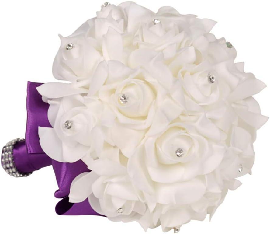 Inicio Blumenm/ädchen Korb Bowknot Satin Griff Hochzeitsfeier Zeremonie Dekoration