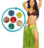 Gonna hawaiana Hawaii con fiori gonnellino hawaiano 75 cm