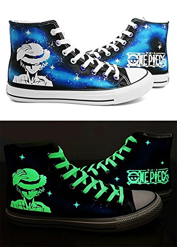 Bleu Toile Sanji Chaussures One B Telacos Sneakers nbsp;choix Lumineux 3 Cosplay Piece Anime Zoro ST074q