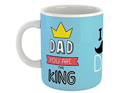 Dad You Are The King Coffee Mug Gift For Father Happy Fathers Day White