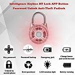 NOBGP-Lucchetto-Intelligente-IP65-Impermeabile-Smart-keyless-Sicurezza-biometrica-Blocco-App-Controllo-Cellulare-App-per-Palestra-Sport-Bici-Scuola-Esterno-recinto-e-stoccaggio