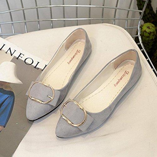 - Women Flat Shoes Office Boat Shoes Low Heel Working Sandals Shoes Hemlock (US:8.5, Grey)