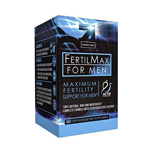 Actif Organic Fertilmax for Men - Maximum Sperm Support - Non-GMO, Made in USA, 60 count