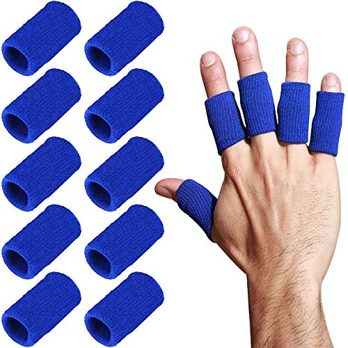 Healifty 10pcs Stretchy finger protector sleeve arthritis support sports aid compression finger protector Black
