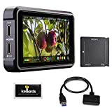 Atomos Ninja V 5'' 4K HDMI Recording Monitor with Sony AtomX SSDmini (1TB), SATA III Adapter Cable & Cleaning Wipes (5-Pack) Bundle