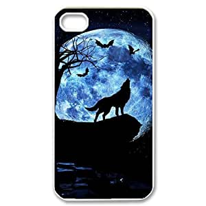 Custom Colorful Case for iPhone 5s, Wolf and Moon Cover Case - HL-R665s59