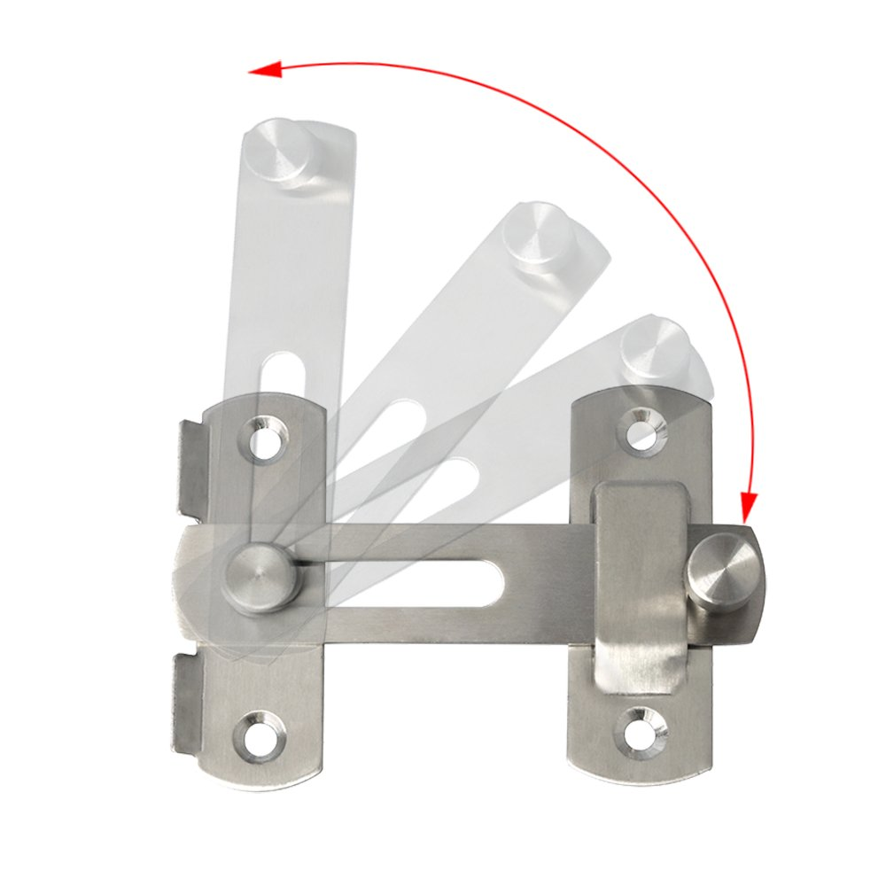 Sayayo Pestillo de la puerta del pestillo de la puerta deslizante de la cerradura de la puerta negro mate,EMS9500-B acero inoxidable