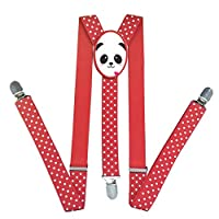 Lovely Panda Unisex Elastic Adjustable Suspender Y-Back Suspenders for Kid Boys Girls