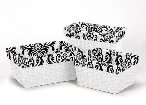 Sweet Jojo Designs 3-Piece Fits Most Basket Liners for Isabella Bedding Sets