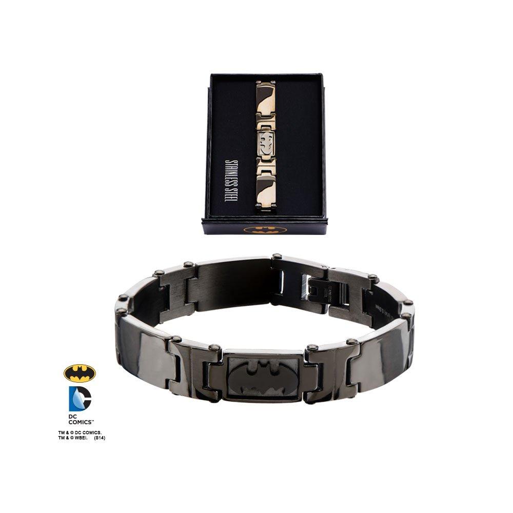 DC Comics Batman Logo Stainless Steel Bracelet Animewild 839546900129