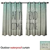 Anshesix Lifestyle Home Patio Outdoor Curtain Motivational Life Begins at The End of