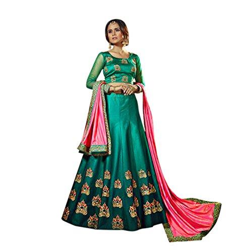 (Bollywood Wedding Ceremony Bridal Zari Lehenga Choli Silk Suit Muslim Ethnic 768)