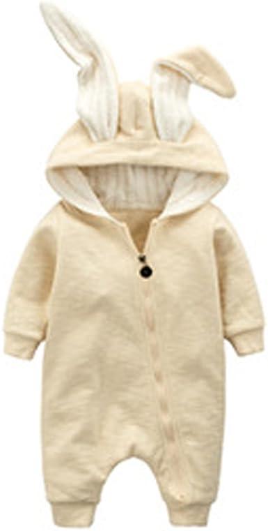 Neu Kaninchen Ohren Neugeborenes Baby Kleinkinder Strampler Baumwolle mit Kapuze