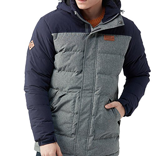 Parka Hooded Windproof Sport emansmoer Climbing Skiing Winter Coat Snowboarding Outdoor Grey Long Men's Overcoat Down Jacket Water Light Ice Duck Resistant w7xqB70C