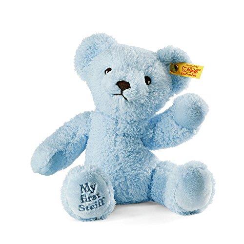 First Steiff Teddy Bear - Steiff My First Steiff Teddy Bear Plush, Light Blue