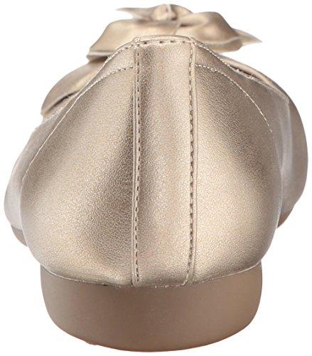 NATURAL SOUL Women's Oakley Ballet Flat, Gold, 8.5 M US by NATURAL SOUL (Image #2)