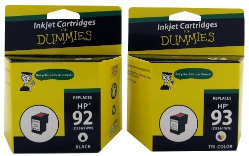 Ink for Dummies 92/93(2PK) Inkjet Cartridge, Black