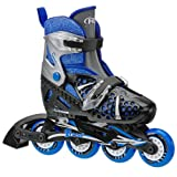 Roller Derby Boy's Tracer Adjustable Inline Skate, Small