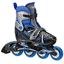 Roller Derby Boy's I-140BM Tracer Adjustable Inline Skate, Medium