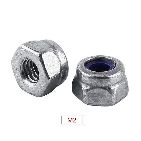 M3-M12 Nyloneinsatz Sicherungsmuttern Nylon Sechskant Flansch Sicherungsmutter