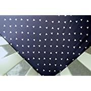 Sheet in Navy Triangle Tokens (Guava Lotus Travel Crib Sheet)