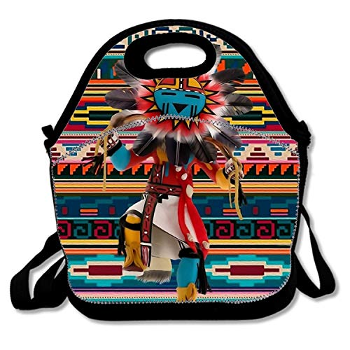 Kachina Doll Art Insulated waterproof Lunch Box For Men (Kachina Doll Owl)