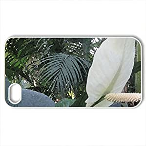 we rebirth in Spring 16 - Case Cover for iPhone 4 and 4s (Flowers Series, Watercolor style, White)