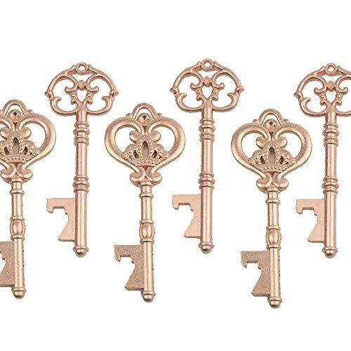 Mixed 20 Extra Large Retro Key Shape Bottle Openers Antique Skeleton Keys - 2 Styles,20 Key Shape Openers (Rose Gold) (Bottle Opener Retro)