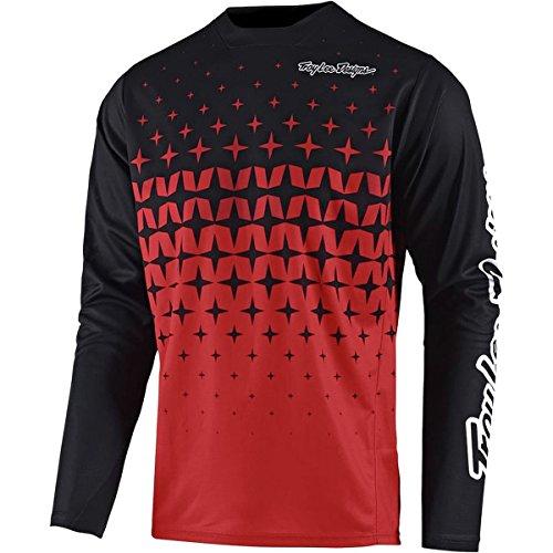 Troy Lee Designs Sprint Long-Sleeve Jersey - Men's Megaburst Red/Black, XXL by Troy Lee Designs