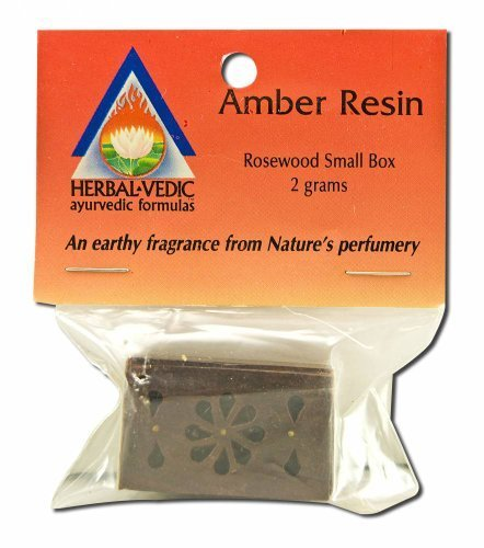 Amber Resin Rosewood Box Small 1 Count by Herbal-Vedic