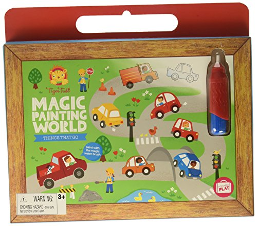 Tiger Tribe Magic Painting World Things That Go Water Set, Multicolor, 10