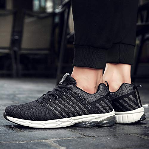 Running Shoes Men Outdoor Sport Breathable Casual Shoes Gym Running Sneakers RedBrowm Black
