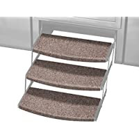 Prest-O-Fit 2-4107 Walnut Brown 22 Wide Outrigger Radius XT RV Step Rug, 3 Pack, 3